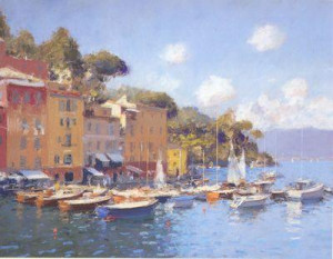 boats at rest- portofino - mounted