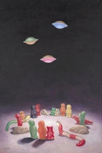 ufo - unidentified fizzing object - deluxe canvas - box canvas