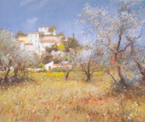 Towards Seillons Village - Provence - Mounted