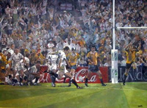 Deliverance - Rugby (Signed by Jonny Wilksinson) - Mounted