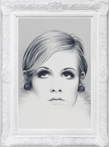 Twiggy II - The Diamond Dust Collection - Framed