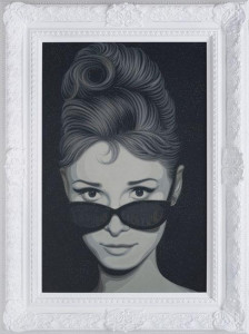 audrey (new york, new york) - framed