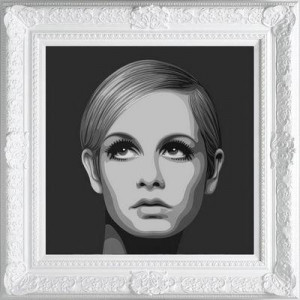 The Diamond Dust Collection - Twiggy  - Framed