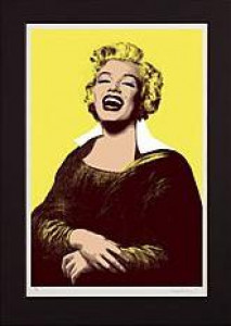 monroe lisa - yellow - mounted