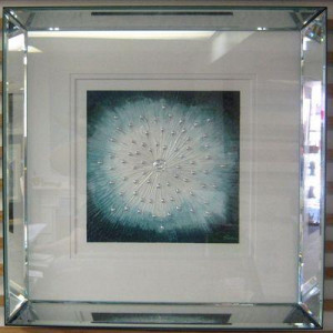 starburst blue - framed