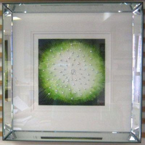starburst green - framed