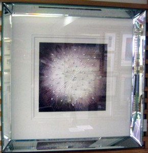 starburst purple - framed