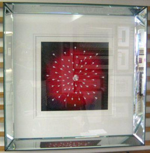 starburst red - framed