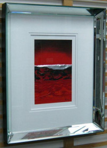 red seascape - framed