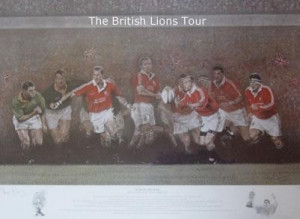 roar of the lions - british lions vs south africa - print