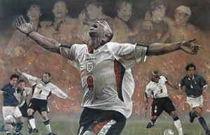 spirit of england - ian wright world cup qualifier 98 - mounted