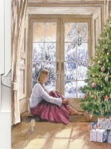 christmas contemplation - print
