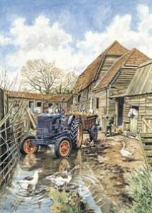 The Farmyard (Twinstead Riding School) - Print