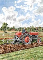 Ploughing With a 135