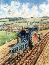 Fordson E27N Ploughing
