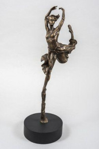 Leap Of Faith - Cold Cast  Resin - Bronze