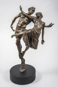 dancing the dream (cold cast bronze resin)