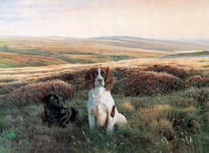 workmates - springer & labrador - mounted