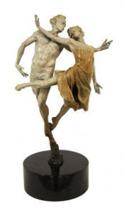 dancing the dream (bronze stone patina)