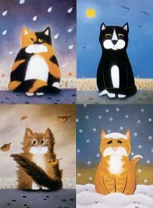 the weather fourcats (set of 4) - mounted