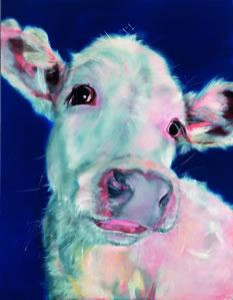 semi skimmed - white cow - box canvas