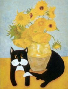 vincent van gogh's cat- misfit - mounted