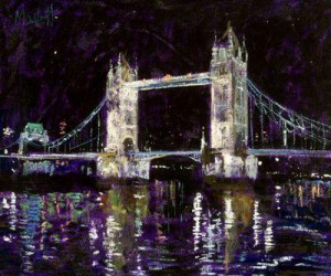 tower bridge - unstretched canvas