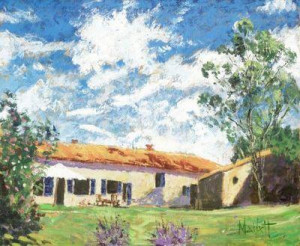 summer in france - unstretched canvas