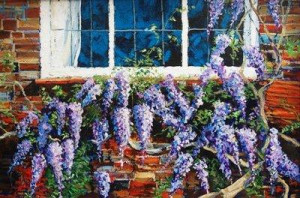 wonderful wisteria - unstretched canvas