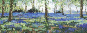 bluebell heaven - unstretched canvas
