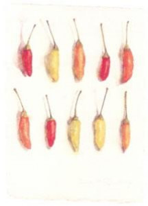 chilli peppers - mounted