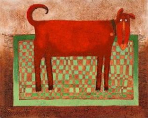 rug rover red - mounted