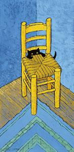 le chat van gogh - mounted