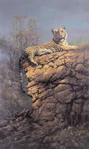 majestic pose - tiger (canvas) - with slip