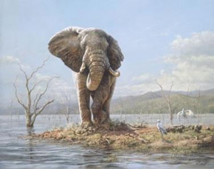 Guardian Of The Lake - Elephant - Mounted