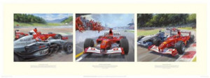 michael makes his point - michael schumacher - mounted
