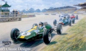 jim clark - world champion 1963 & 1965 - mounted