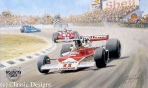 james hunt - world champion 1976 - mounted
