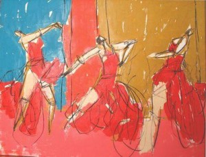 flamenco trio - box canvas