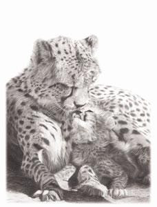no greater love- cheetah - mounted