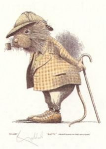 ratty - wind in the willows - print