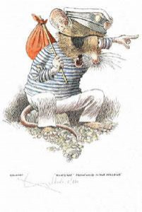 ships rat - wind in the willows - print
