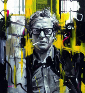 sixties style - michael caine - deluxe - box canvas