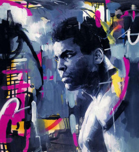 king of the ring - ali - deluxe - box canvas