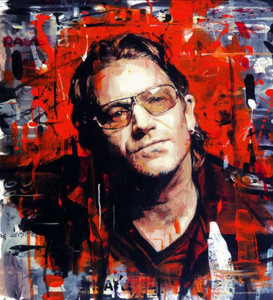 Rock Star - Bono - Box Canvas