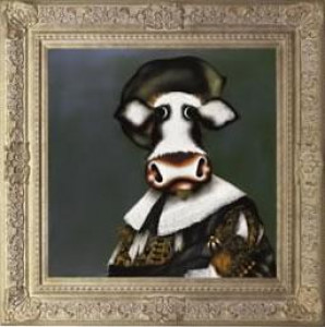 The Laughing Cowvalier - Framed