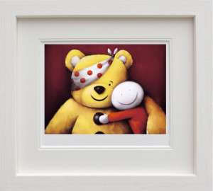 Pudsey - White - Framed