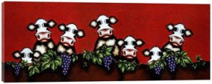 Herd On The Grape Vine - Box Canvas
