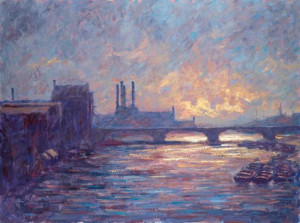 Battersea Sunset - Canvas With Slip