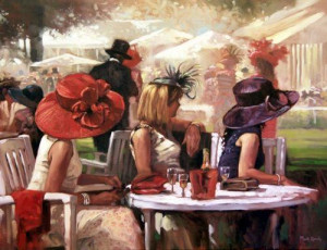 ladies at lunch - framed